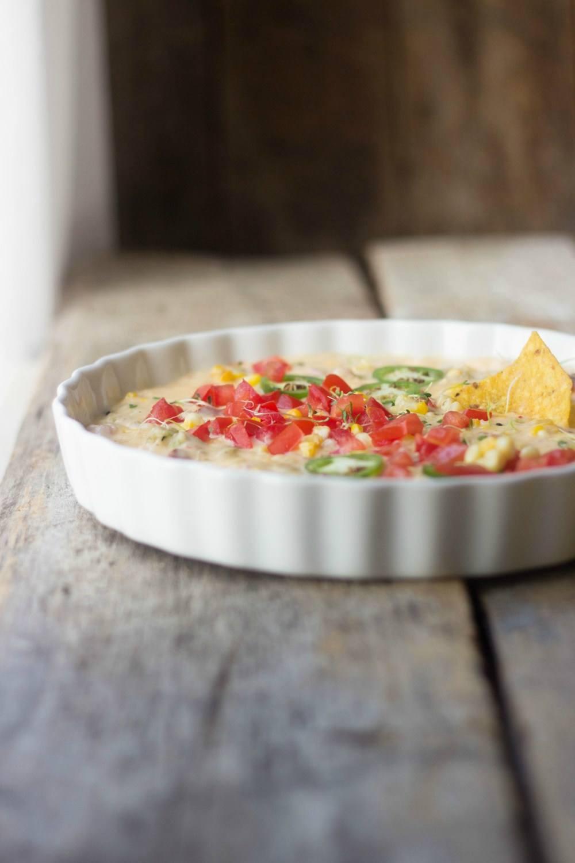 Sweet Corn & Smoked Sausage Queso Recipe | HeyFood — heyfoodapp.com