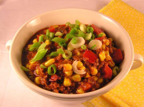 Soy Chorizo & Corn Stew Recipe | HeyFood — heyfoodapp.com