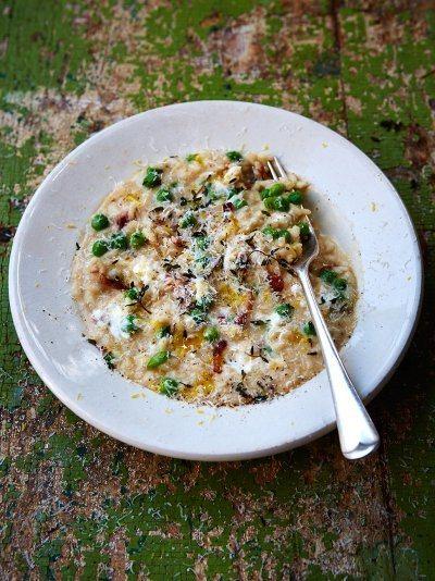 Pea And Goat's Cheese Risotto Recipe | HeyFood — heyfoodapp.com