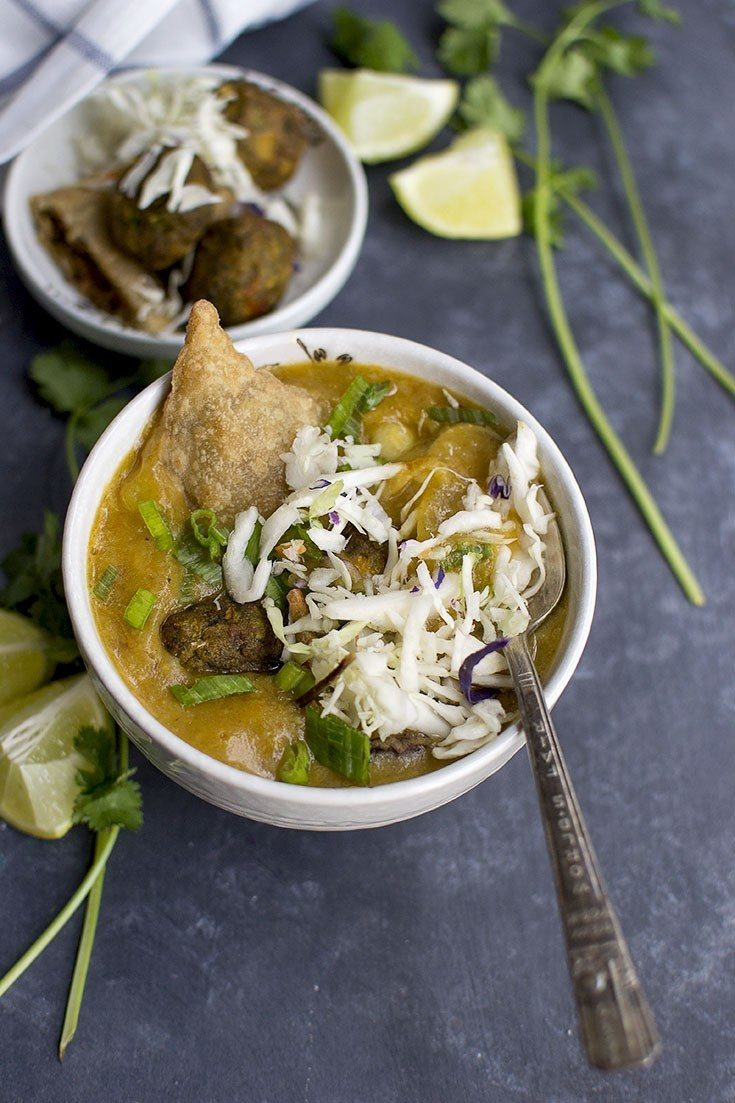 Burmese Samosa Thouk Recipe Recipe | HeyFood — heyfoodapp.com