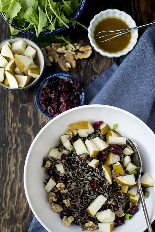 Wild Rice Kale Salad Recipe   HeyFood — heyfoodapp.com