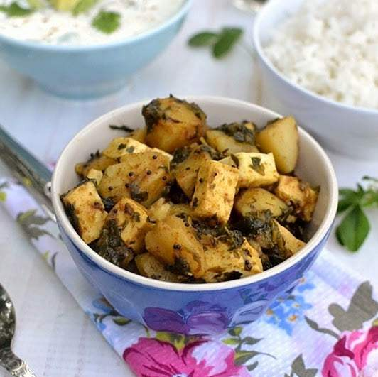 Potato Paneer Methi Curry (Alu Paneer Methi Curry) Recipe | HeyFood — heyfoodapp.com