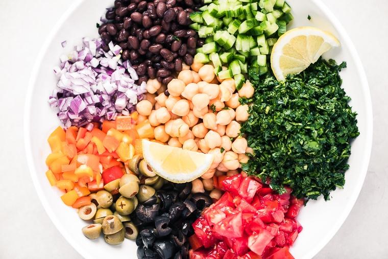 Middle Eastern Chickpea Salad (Balela) Recipe | HeyFood — heyfoodapp.com