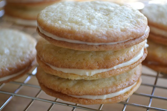 Vanilla on Vanilla Sandwich Cookies Recipe | HeyFood — heyfoodapp.com