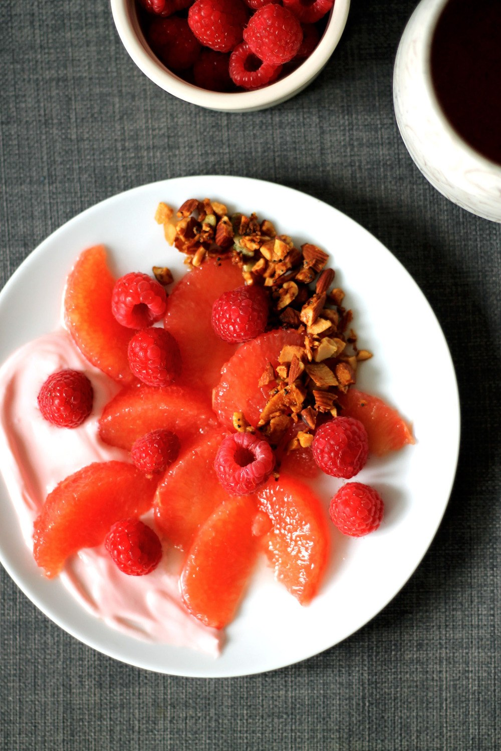 Pink Fruit Salad Recipe | HeyFood — heyfoodapp.com