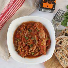 Slow Cooker Sausage & Lentil Casserole Recipe | HeyFood — heyfoodapp.com
