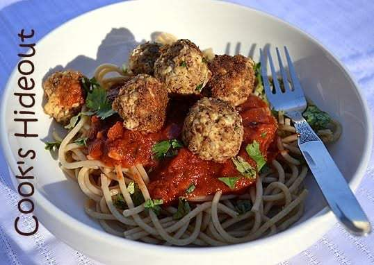 Tofu Balls with Spaghetti Recipe | HeyFood — heyfoodapp.com