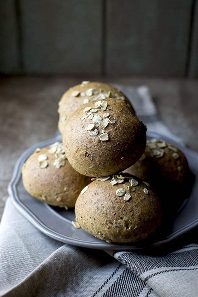 Flax Oat Wheat Dinner Rolls Recipe | HeyFood — heyfoodapp.com