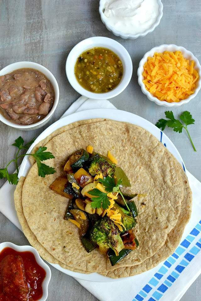 Vegetarian Fajitas Recipe | HeyFood — heyfoodapp.com