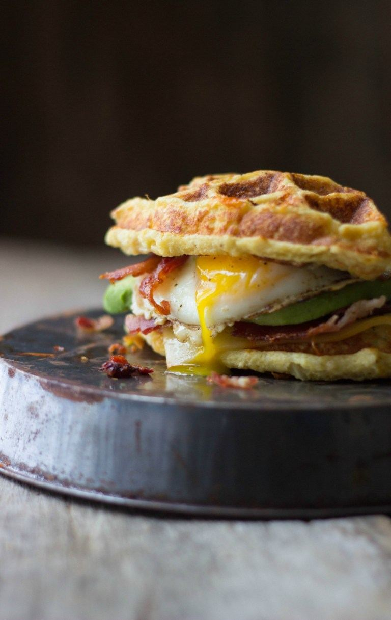 The Ultimate Cauliflower Waffle Breakfast Sandwich Recipe | HeyFood — heyfoodapp.com