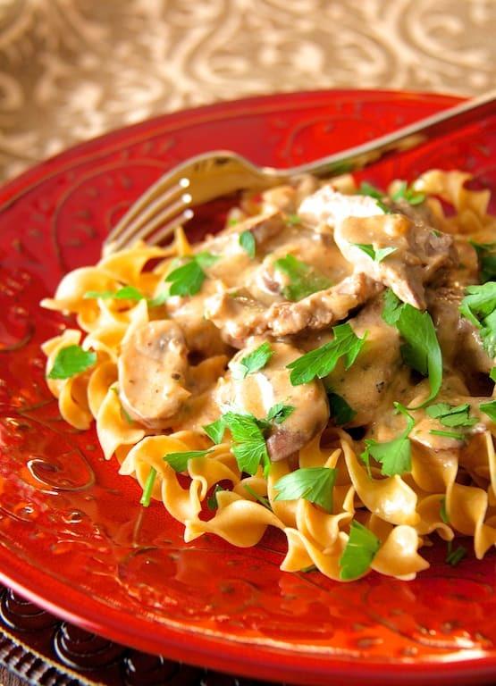 Lighter Beef Stroganoff Recipe   HeyFood — heyfoodapp.com