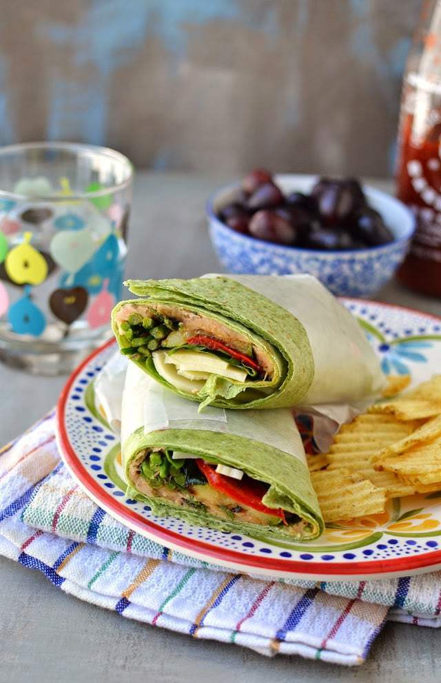 Roasted Vegetable Wrap Recipe | HeyFood — heyfoodapp.com