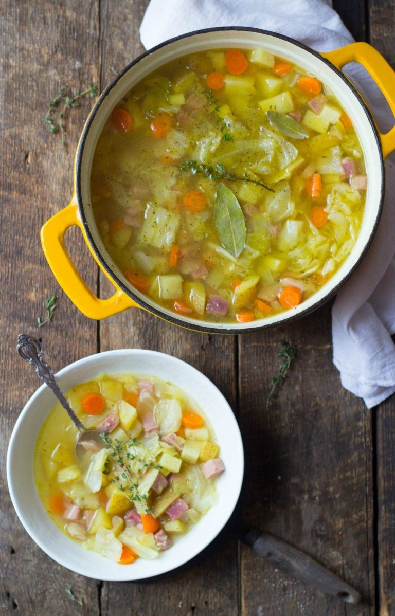 Old-Fashioned Ham, Cabbage and Potato Soup Recipe | HeyFood — heyfoodapp.com
