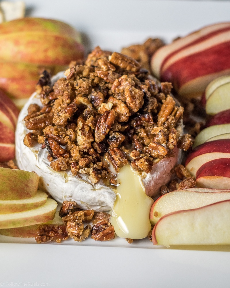 Maple Pecan Baked Brie Recipe | HeyFood — heyfoodapp.com