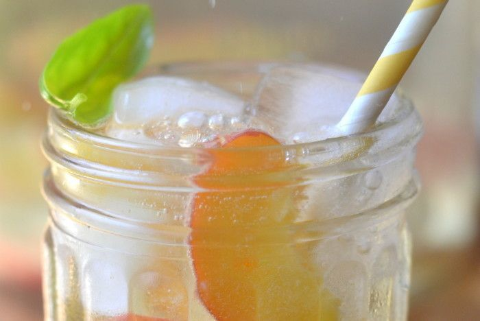 Summer Peach and Basil Sangria Recipe | HeyFood — heyfoodapp.com