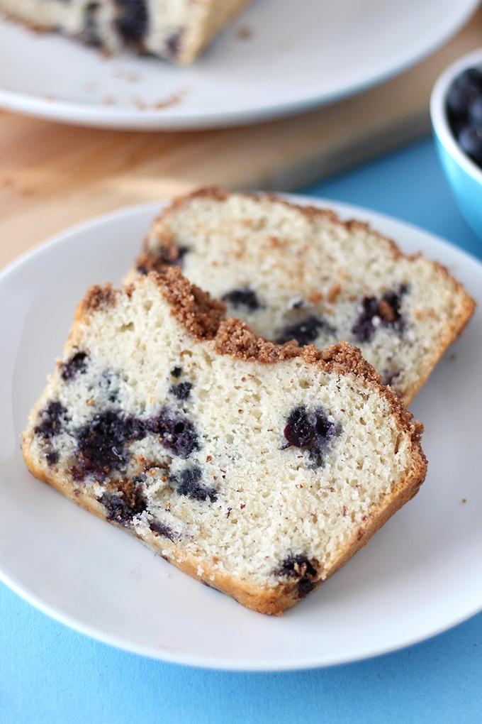 Vegan Blueberry Coffee Cake Loaf Recipe | HeyFood — heyfoodapp.com