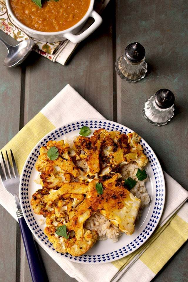Roasted Cauliflower Steaks Recipe | HeyFood — heyfoodapp.com