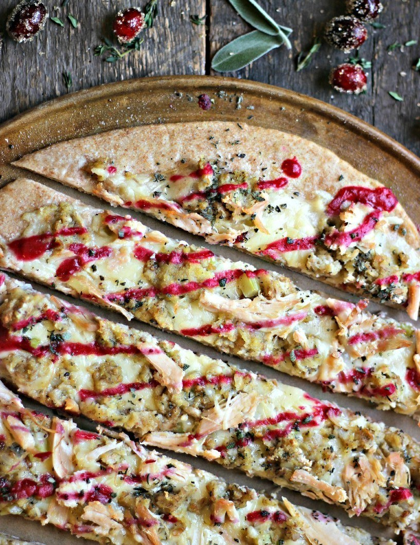 Holiday Leftovers Whole Grain Pizza Recipe | HeyFood — heyfoodapp.com