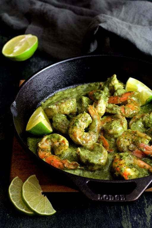Shrimp in Avocado Butter Recipe | HeyFood — heyfoodapp.com