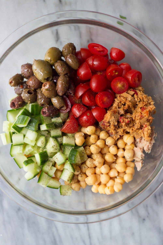 Mediterranean Chickpea & Tuna Salad Recipe | HeyFood — heyfoodapp.com