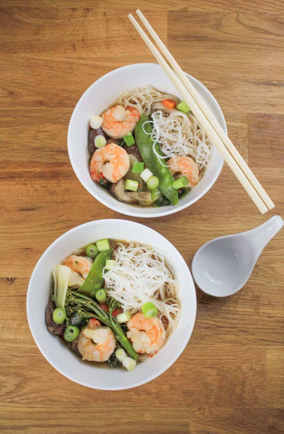 Prawn and Vegetable Ramen Recipe | HeyFood — heyfoodapp.com