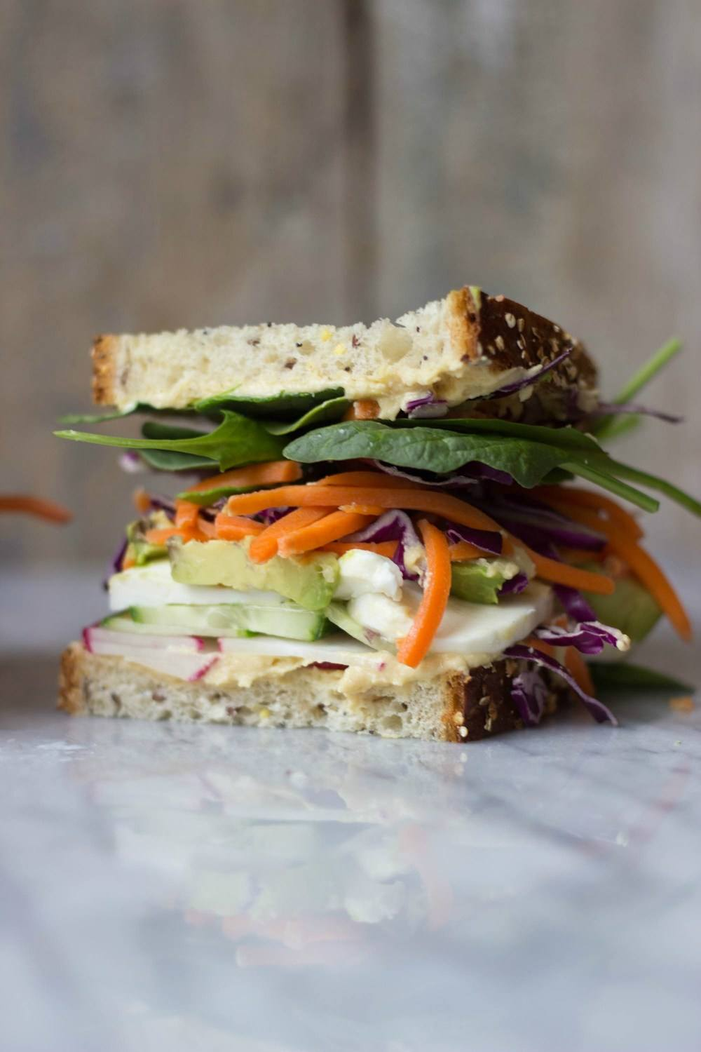 The Ultimate Veggie Sandwich Recipe | HeyFood — heyfoodapp.com