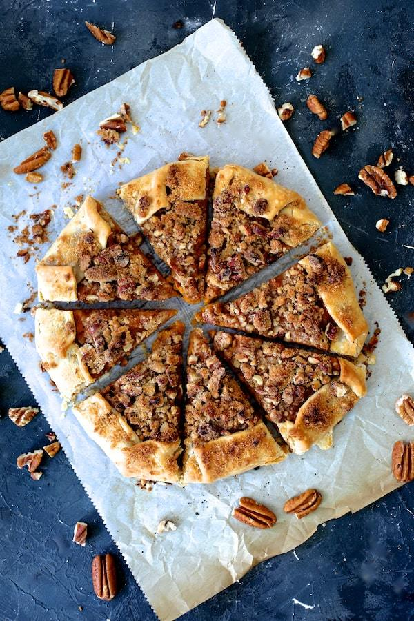 Sweet Potato Galette with Pecan Streusel Topping Recipe | HeyFood — heyfoodapp.com