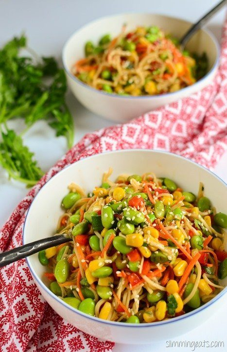 Edamame Noodle Salad Bowl Recipe | HeyFood — heyfoodapp.com