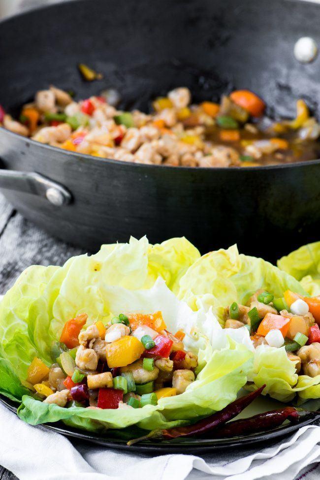 Firecracker Chicken Lettuce Wraps Recipe   HeyFood — heyfoodapp.com