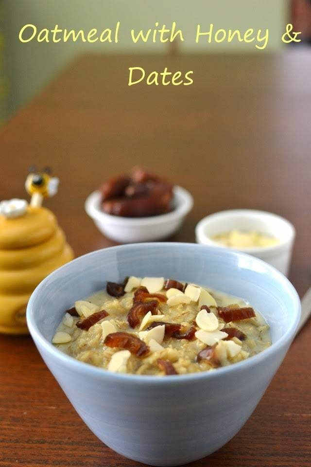 Oatmeal with Honey & Dates Recipe | HeyFood — heyfoodapp.com