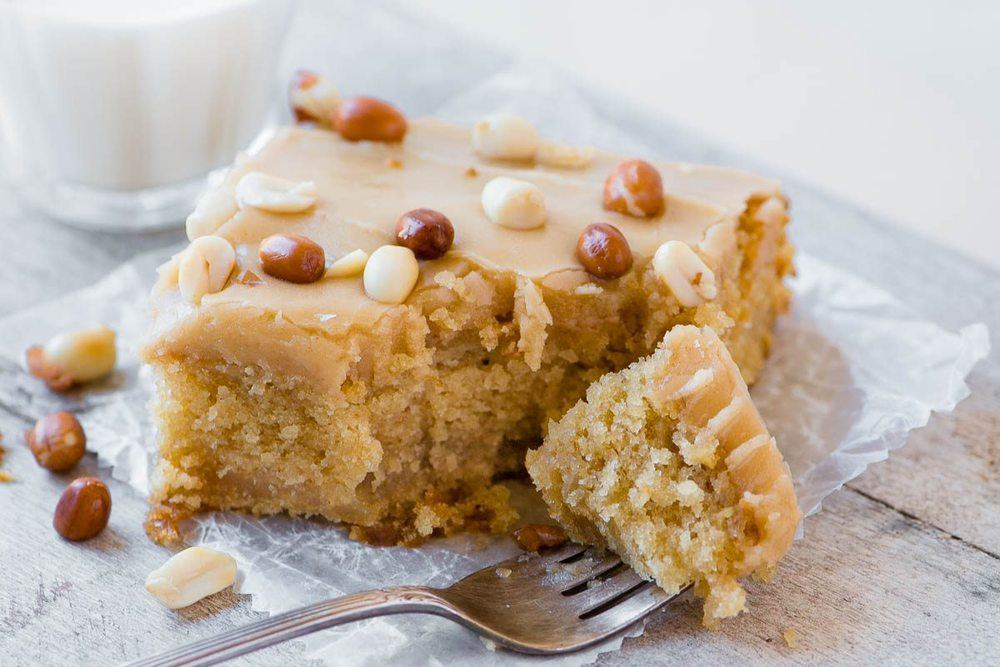 Old Fashioned Peanut Butter Cake Recipe | HeyFood — heyfoodapp.com