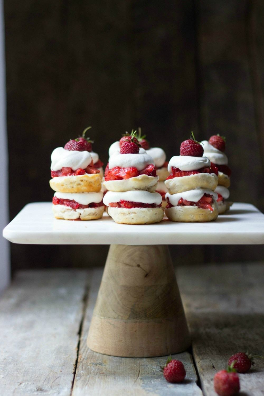 Mini Strawberry Shortcake Stacks Recipe | HeyFood — heyfoodapp.com