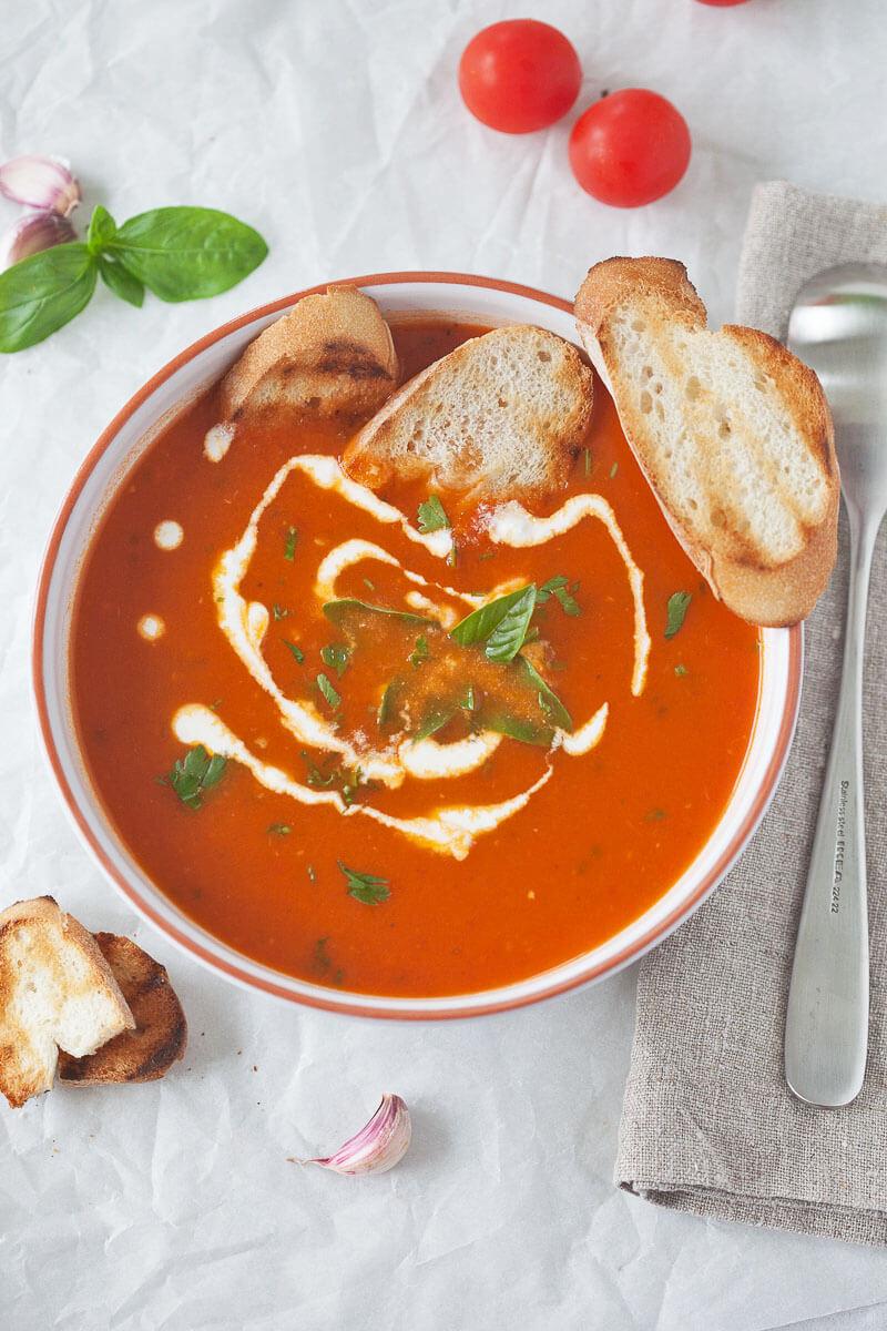 Tomato Soup from Fresh Ripe Tomatoes Recipe | HeyFood — heyfoodapp.com
