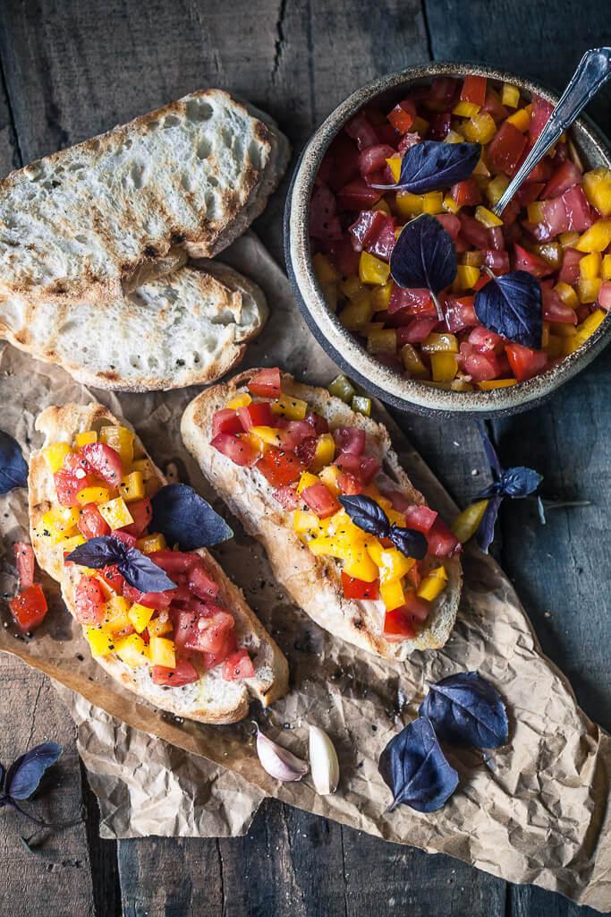 Classic Italian Tomato Bruschetta Recipe | HeyFood — heyfoodapp.com