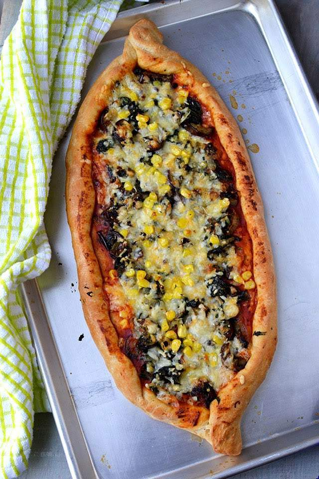 Turkish Pizza Bread (Pide) Recipe | HeyFood — heyfoodapp.com