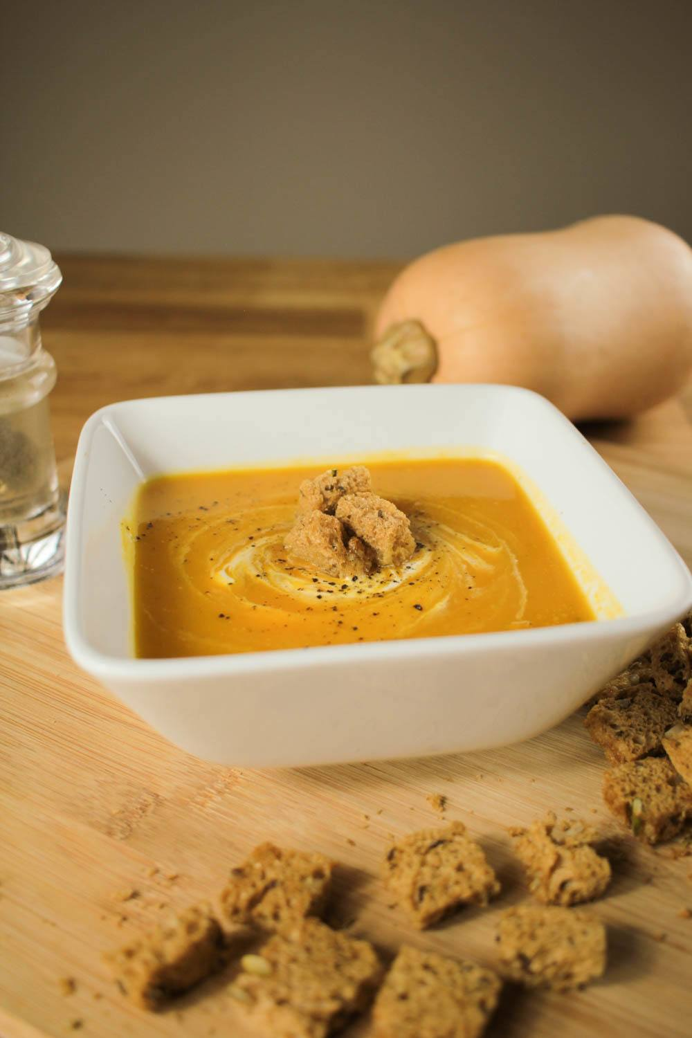 Roasted Butternut Squash Soup with Cumin Recipe | HeyFood — heyfoodapp.com