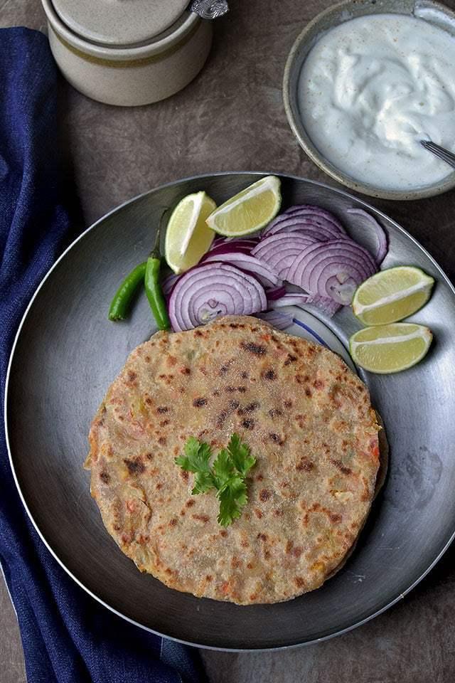 Navratan Paratha Recipe | HeyFood — heyfoodapp.com