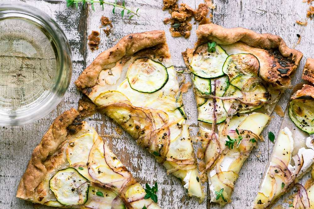 Goat Cheese and Summer Squash Tart Recipe | HeyFood — heyfoodapp.com