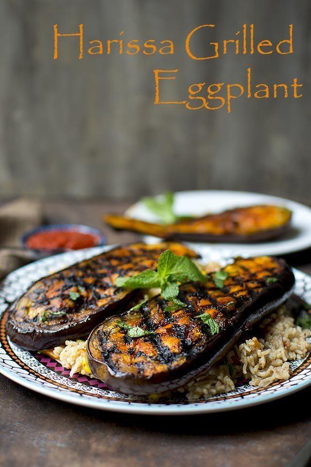 Harissa Grilled Eggplant Recipe | HeyFood — heyfoodapp.com